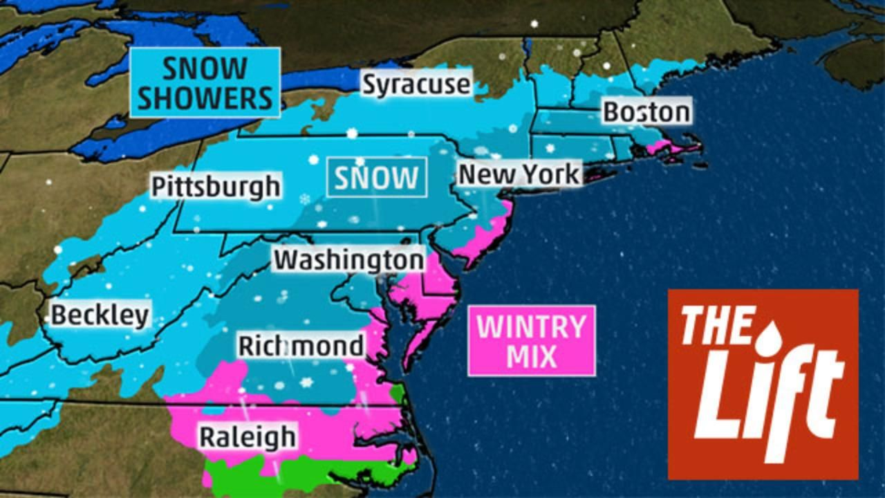 Meteorologist Domenica Davis looks ahead to a late week storm that could be a snowmaker for the East Coast.
