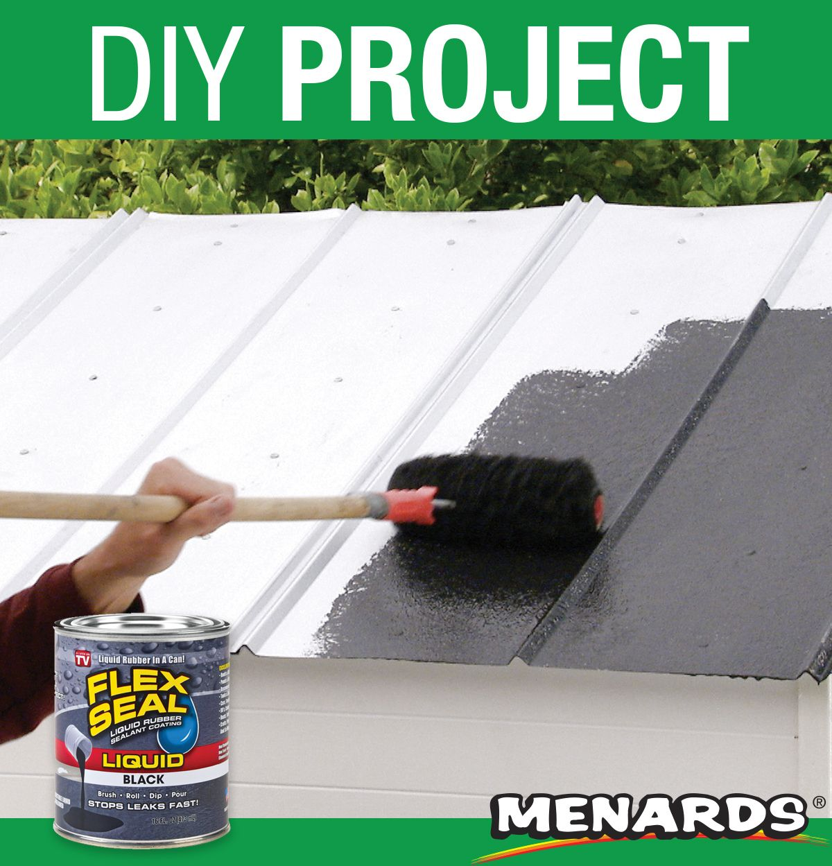 Flex Seal Liquid Is An Easy To Use Rubberized Coating That Starts Out As Thick Liquid Seeps Into Cracks And Holes And Rubber Sealant Liquid Rubber Spray Foam