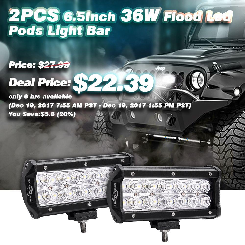 2pcs 6 5inch 36w Flood Led Pods Light Bar Amazon Link Http A Co Jfgfzfi Deal Price Cree Led Light Bar Led Light Bars Suv Trucks