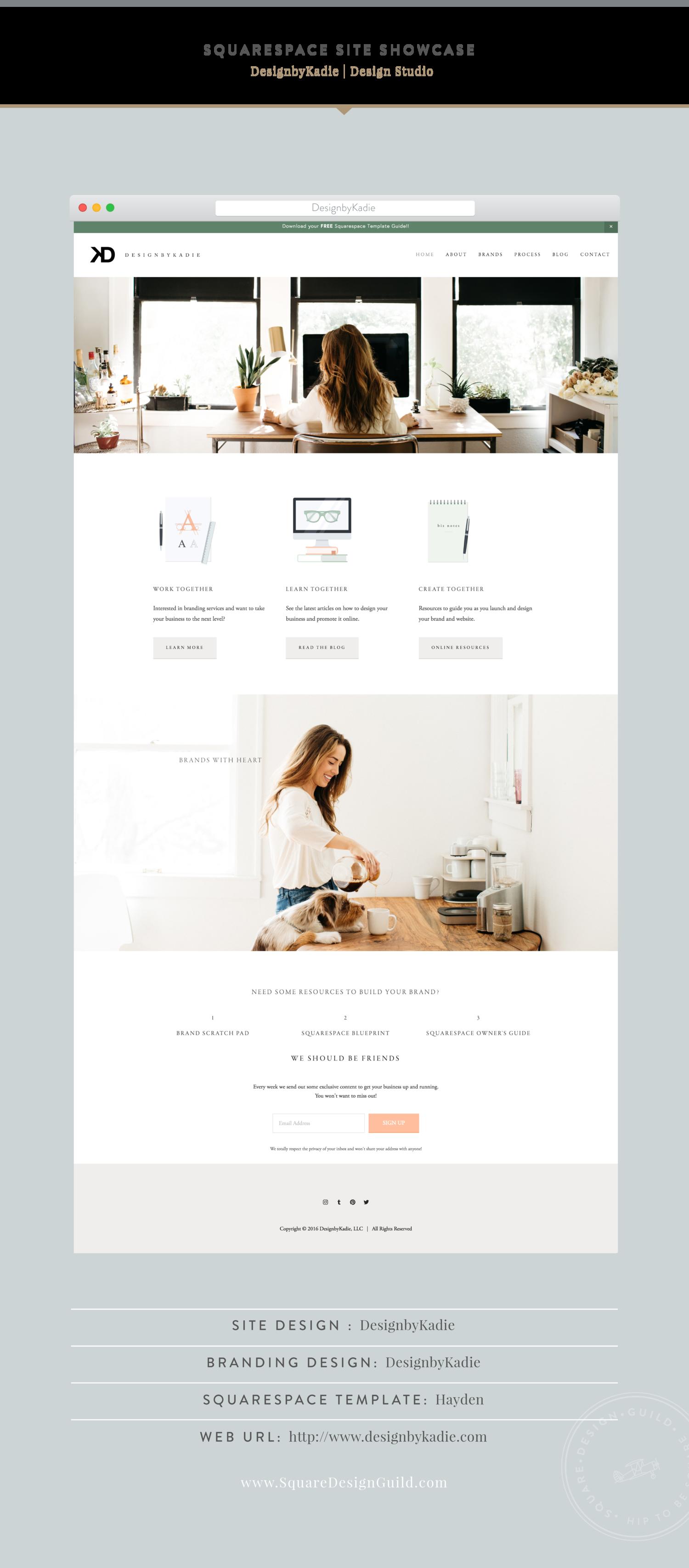 site showcase designbykadie site design and typography rh pinterest com