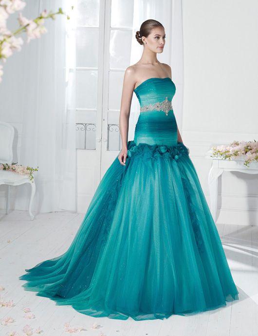Aqua Wedding Dress By Novia D Art 2017 Collections Www Noviadart