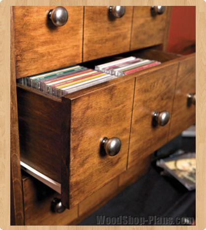 CD Storage Cabinet Woodworking Plans