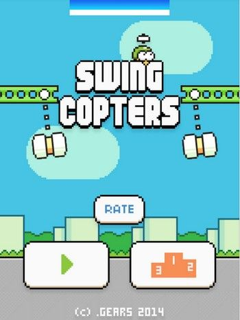 Swing Copters El Nuevo Juego Del Creador De Flappy Bird Ya Se Puede