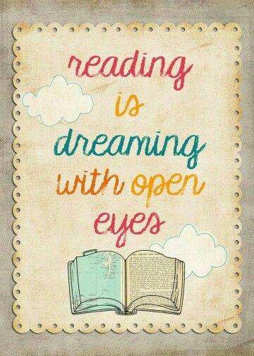 Resultado de imagen de reading is dreaming