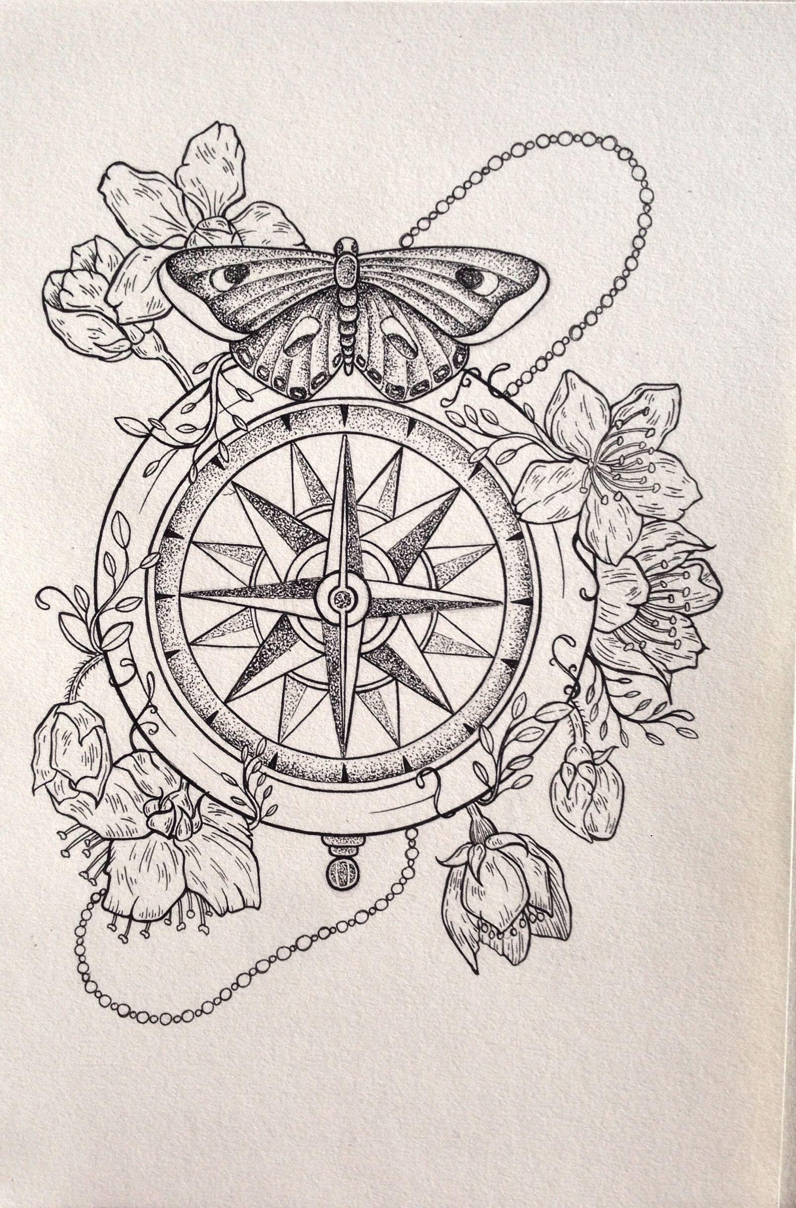 Compass Illustration - Copyright: Isabella Caitlin Avery … | Pinteres…