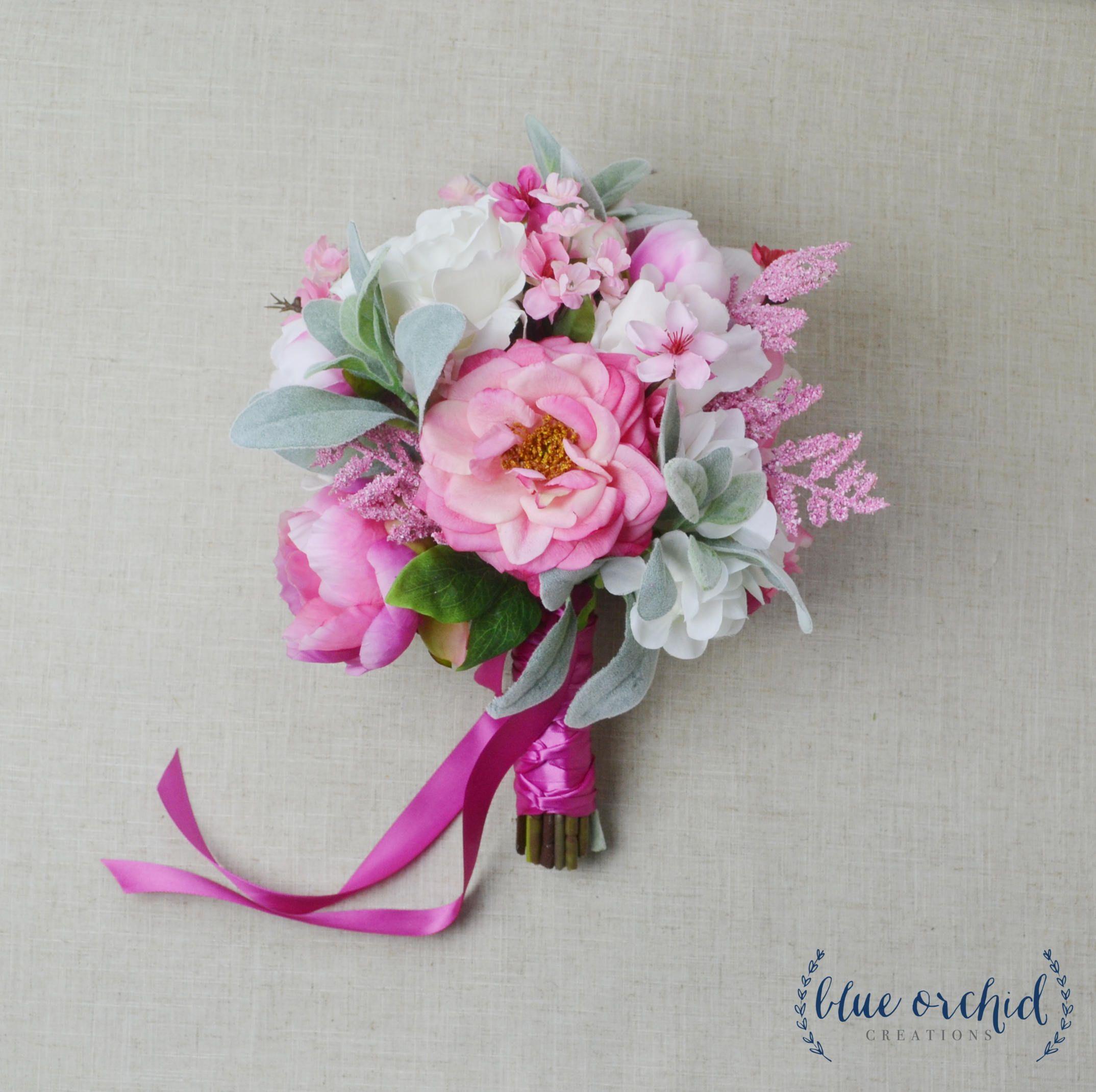 Wedding Bouquet, Bridal Bouquet, Boho Bouquet, Pink Bouquet, Hot ...
