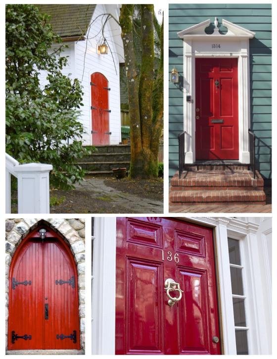 striking impact the painted red exterior door purple door other rh in pinterest com