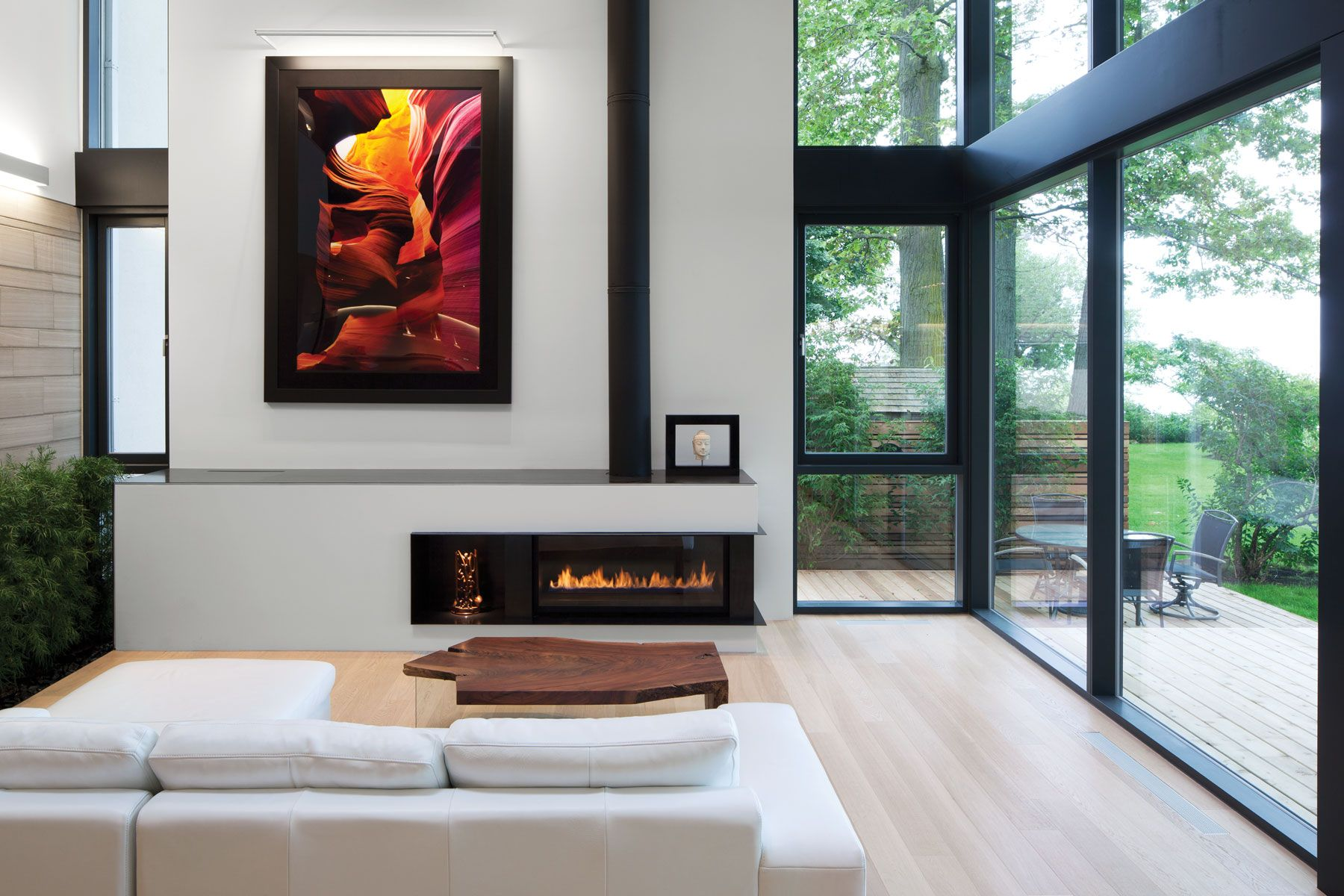 modern house interiors%0A Canada Modern Lake House Minimalist Small Living Area with Simple Modern  Fireplace from Canada Captivating Modern Minimalist Lake House by T