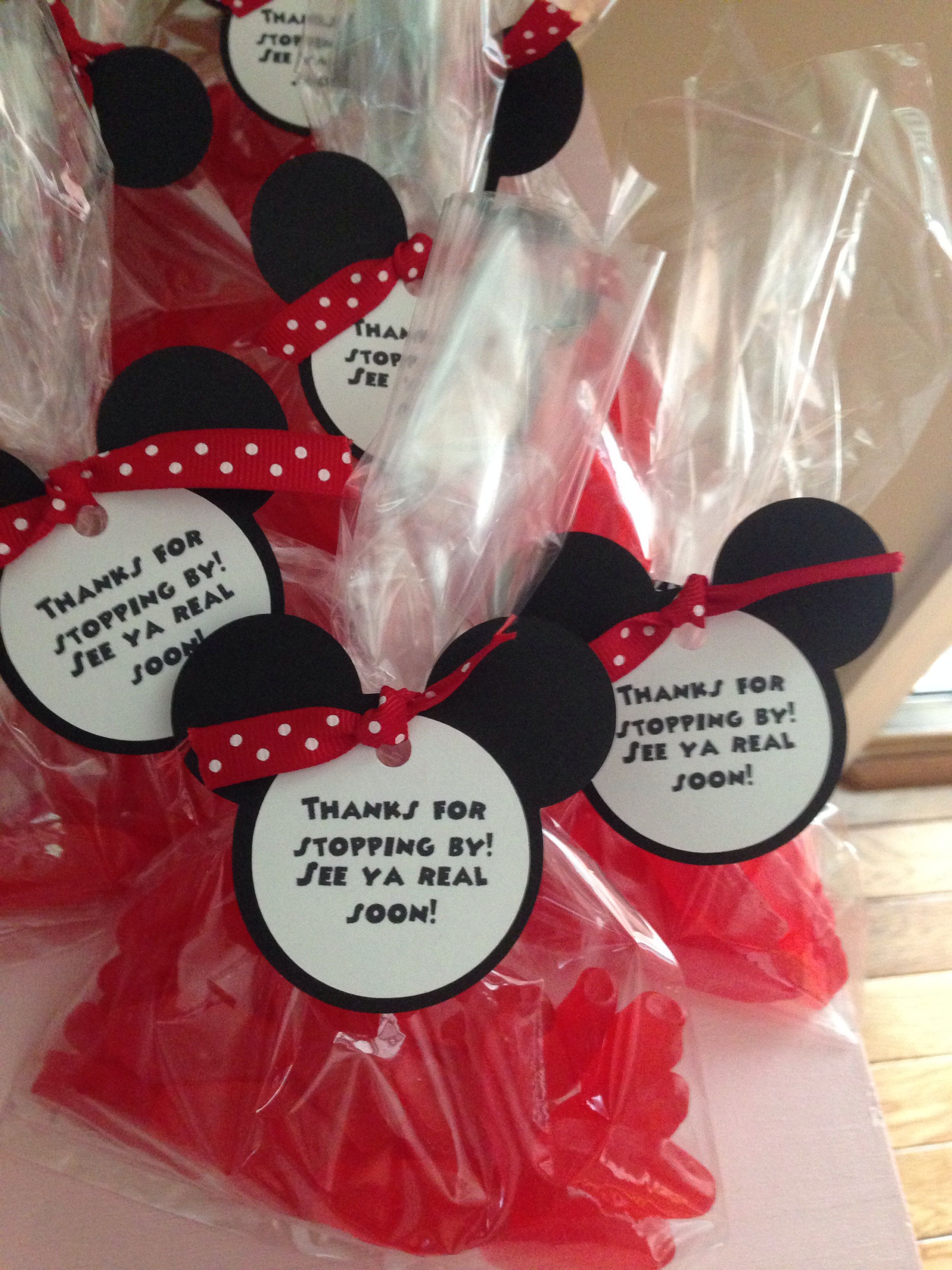 Red Gooey Fish Party Favors Diy Leahs Minnie Mouse Birthday