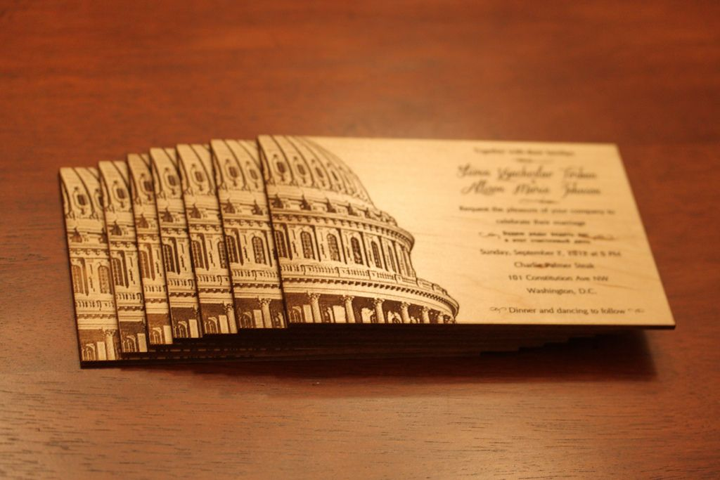 wedding invitations gifts%0A Washington DC Wedding Invitations  maple engraved  doesn u    t get much  better