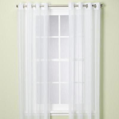 escape grommet 96 window curtain panel in white discountcurtains rh pinterest com