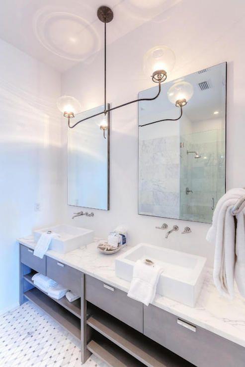 gray modern bathroom vanity cottage bathroom dreamy bed and bath rh pinterest com