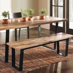 railroad tie dining table and bench buena vina in 2019 dining rh pinterest com