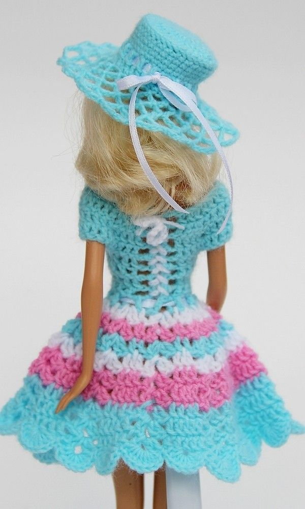 6 Häkelanleitungen + 1 Nähanleitung Puppenkleidung Serie Swing #crochetedbarbiedollclothes