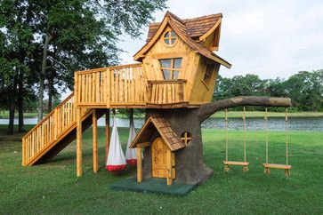 Bungalow Style Tree House Eclectic Outdoor Playsets Dallas The 4 Kids Inc
