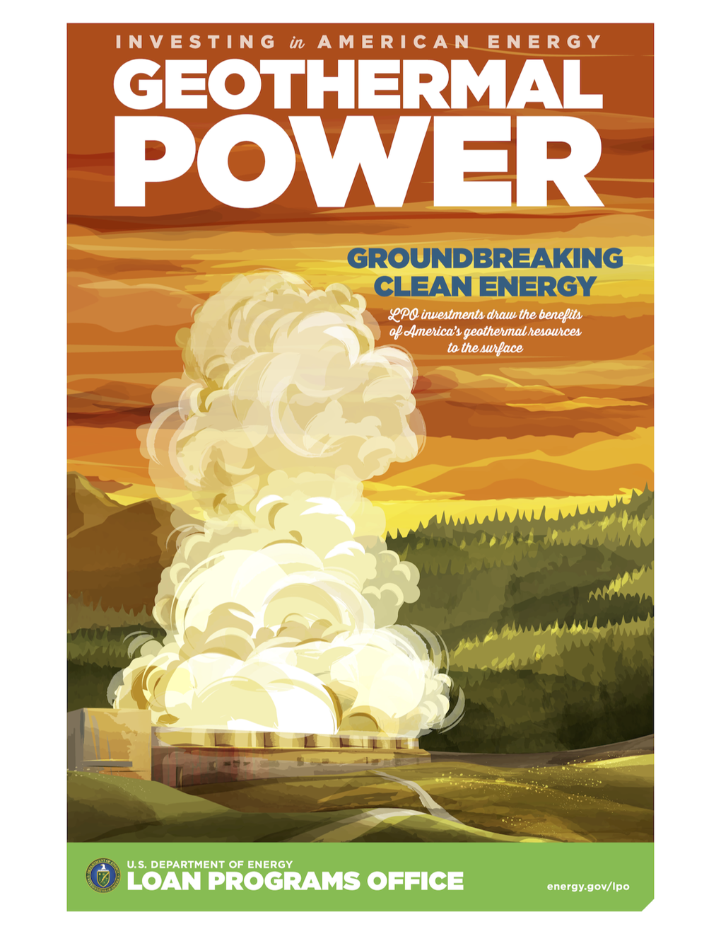 The Department Of Energy Promotes Clean Energy With Funky Retro Posters Geothermal Energy Retro Poster New Poster