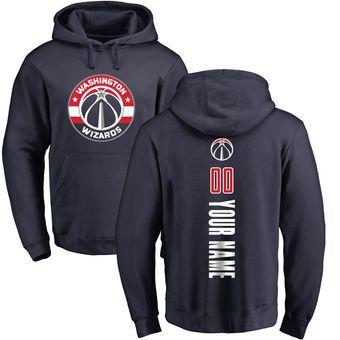 74686da58aa Men s Washington Wizards Fanatics Branded Navy Personalized Backer Pullover  Hoodie