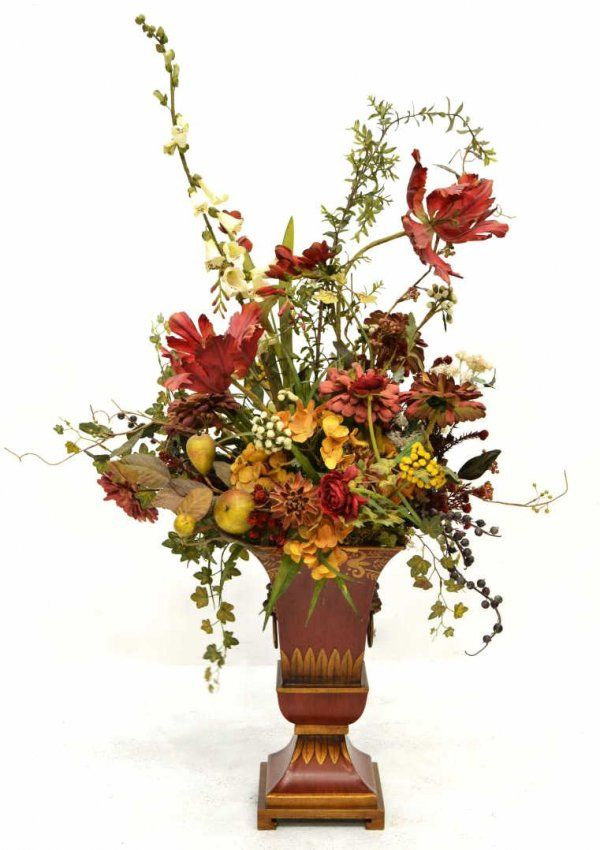 598 Large Floral Arrangement In Decorative Vase On Floral Visions