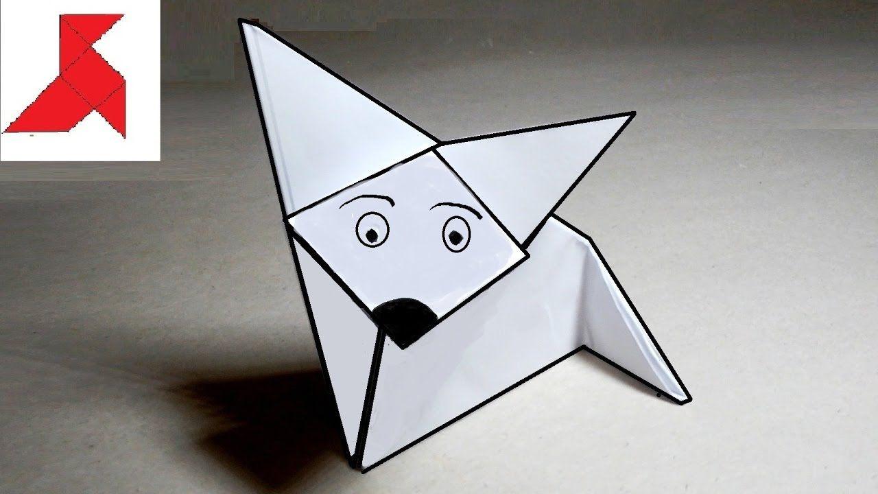 3d лиса из бумаги схема