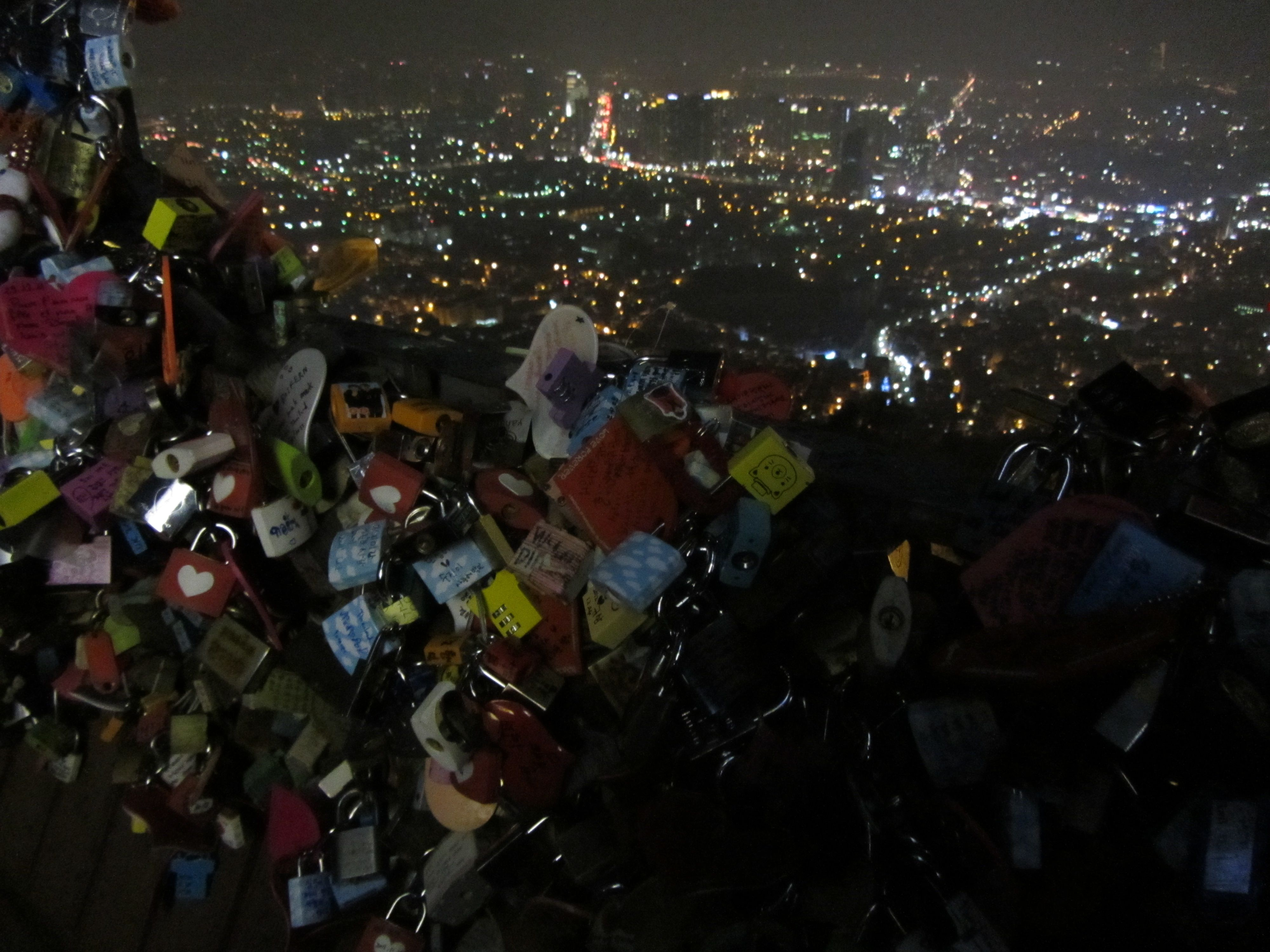 """Who, being loved, is poor?"" -- Oscar Wilde.    Namsan Tower, Seoul, South Korea."