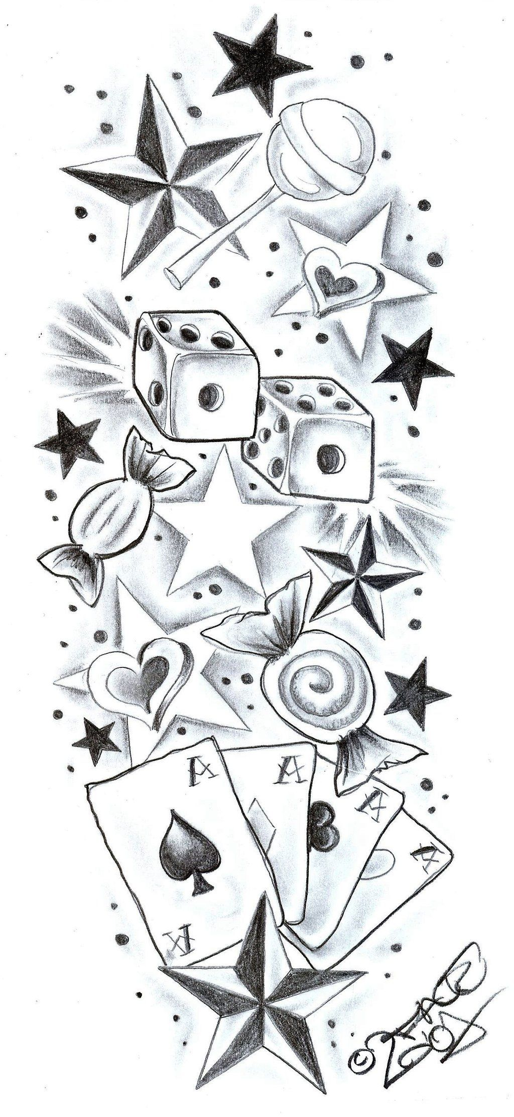New school tattoo design - Tattoodesign Sweetscherrystars By 2face Tattoo Deviantart Com On Deviantart