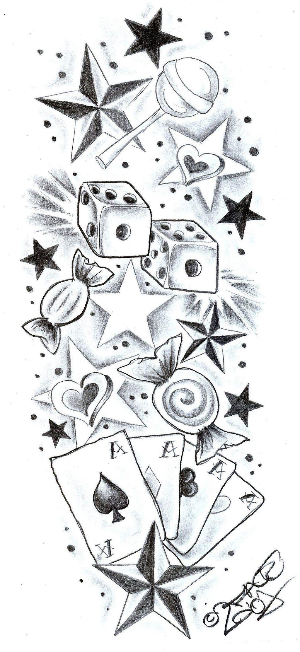 Tattoodesign Sweetscherrystars By 2face Tattoo On Deviantart Tattoo Design Drawings Tattoo Sketches Deviantart Tattoo