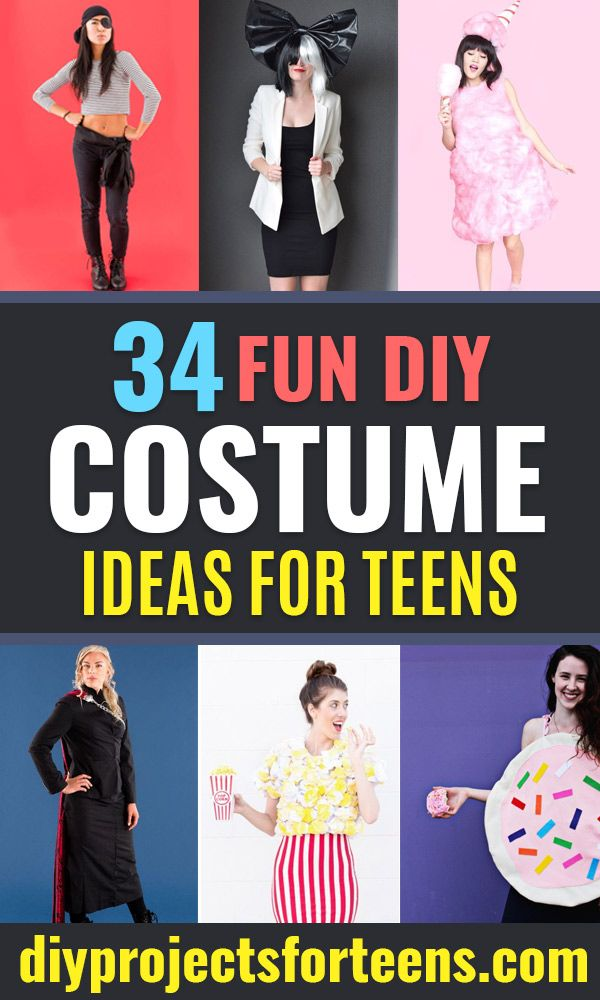34 Fun DIY Costume Ideas for Teens Cool DIY Projects Pinterest