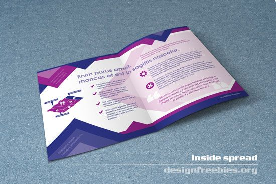 Free bifold booklet flyer brochure indesign template no 1 for Indesign bi fold brochure template