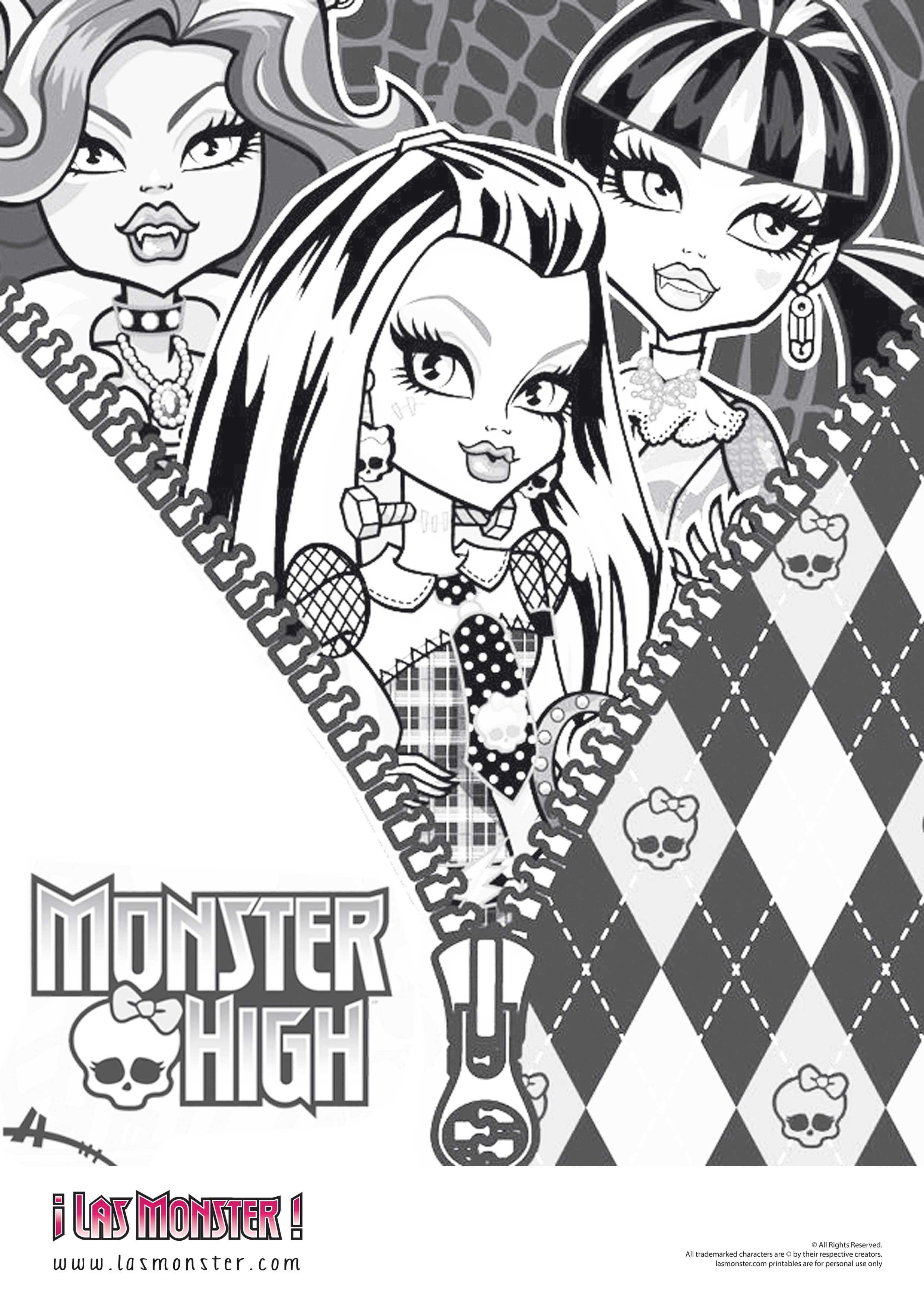 dibujo-chicas-monster-high | diseño | Pinterest | Monster high ...