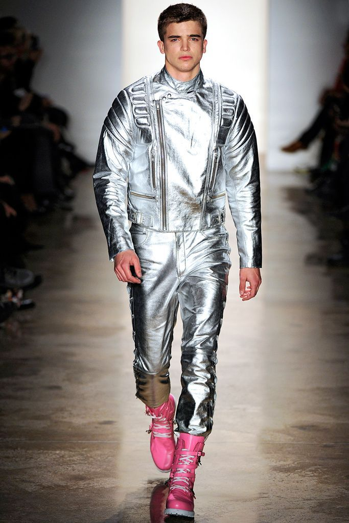 Image result for metallic men space fashion