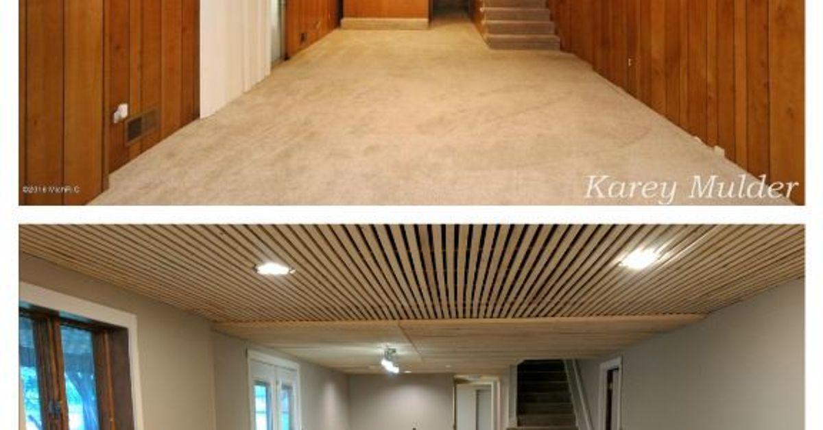 Basement Make Over Basement Remodeling Basement Layout Brick Room