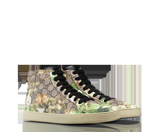 GUCCI: Sneaker Alta con stampa Blooms