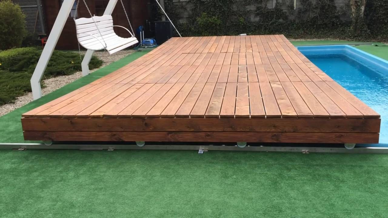 Mobile Pool Deck Terrace With Images Pool Cover Container