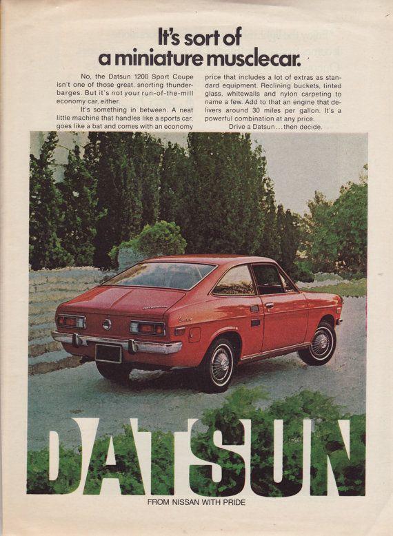 Pin By Monty Hall On Automoto Vintage Datsun Vintage Ads Sports Coupe
