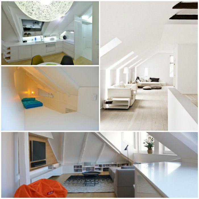 Ideen In Weiß Zum Dachwohnung Einrichten! Eine Inspiration In Weiß Wollen  Wir Ihnen Heute Vorstellen. Sie Ist Für Jede Art Von Inneneinrichtungen  Passend.