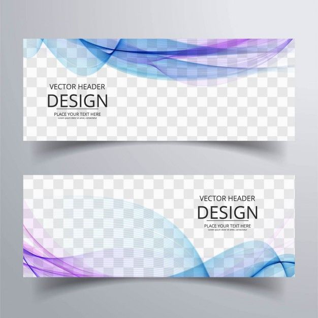 Banner with blue and purple wavy shapes Free Vector | Graphic ...