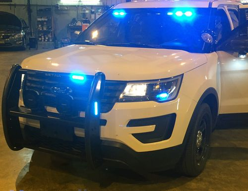 Setina Led Push Bumper Pb 450 L Grill Guard For Police Cars Suvs Trucks And Vans Police Cars Police Truck Ford Police