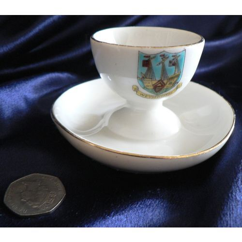 Crested China Egg Cup - Weymouth Crest