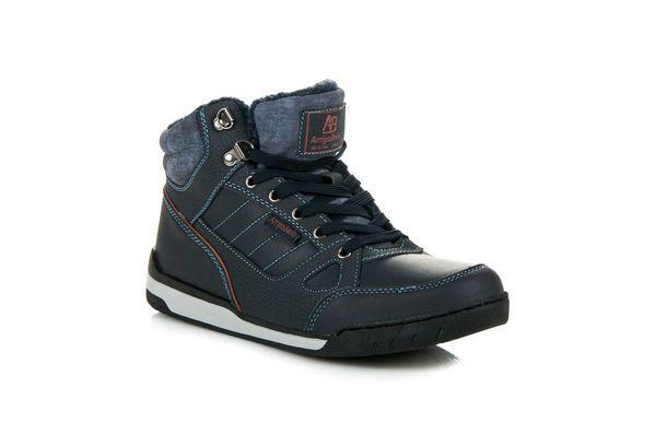Arrigo Bello Ocieplane Buty Sportowe Niebieskie Boots Hiking Boots High Top Sneakers
