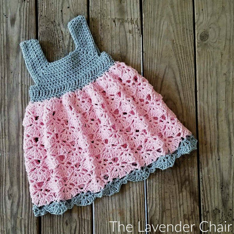 Falling Fans Dress Crochet Pattern   Babys, Kleider und Häkeln
