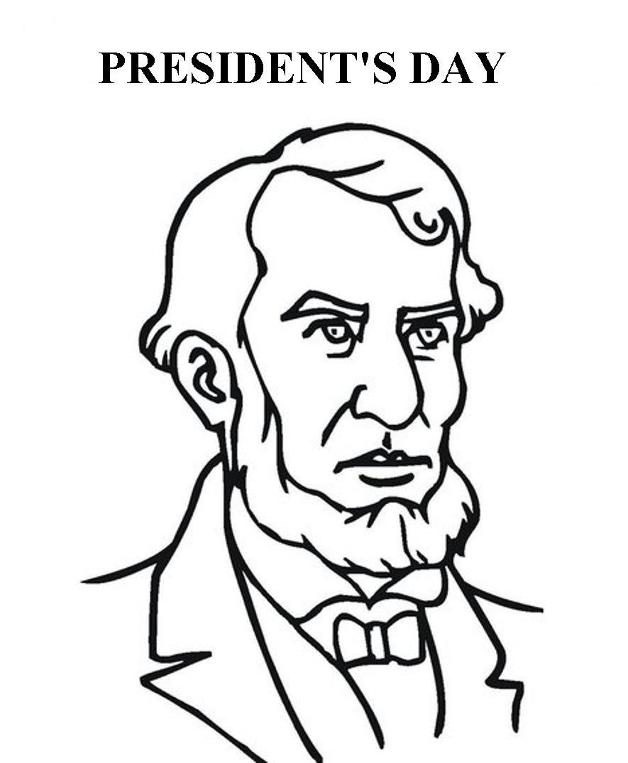 Presidents Day Coloring Pages Printable Abraham Lincoln Coloring Page Coloring Pages For Kids New Year Coloring Pages