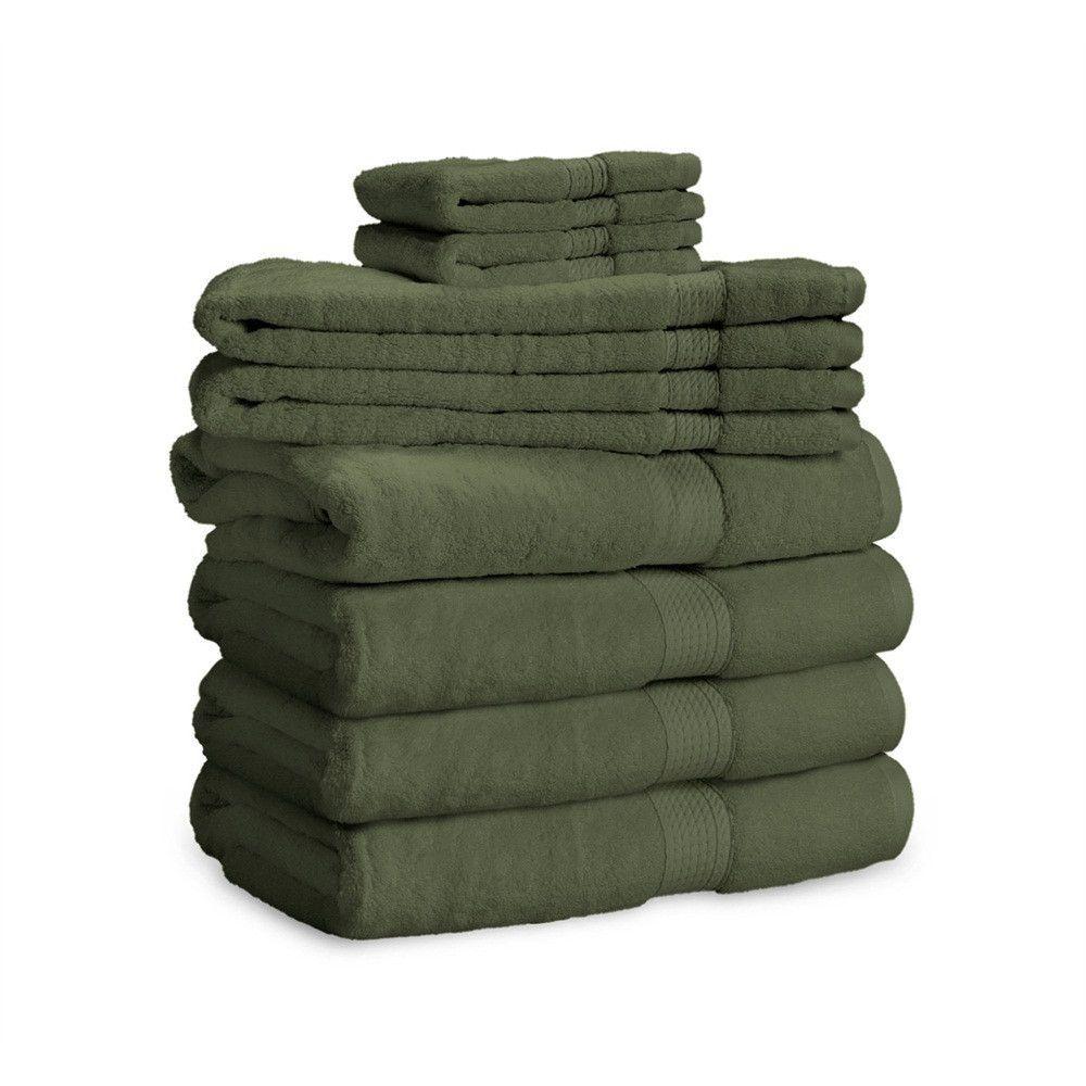 900 Gsm 8 Piece Long Staple Combed Cotton Towel Set Egyptian