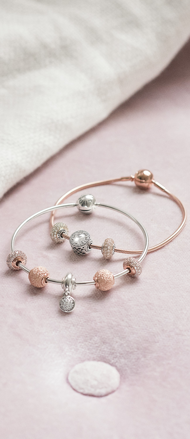 Mix your PANDORA Rose ESSENCE charms and bracelets with ...