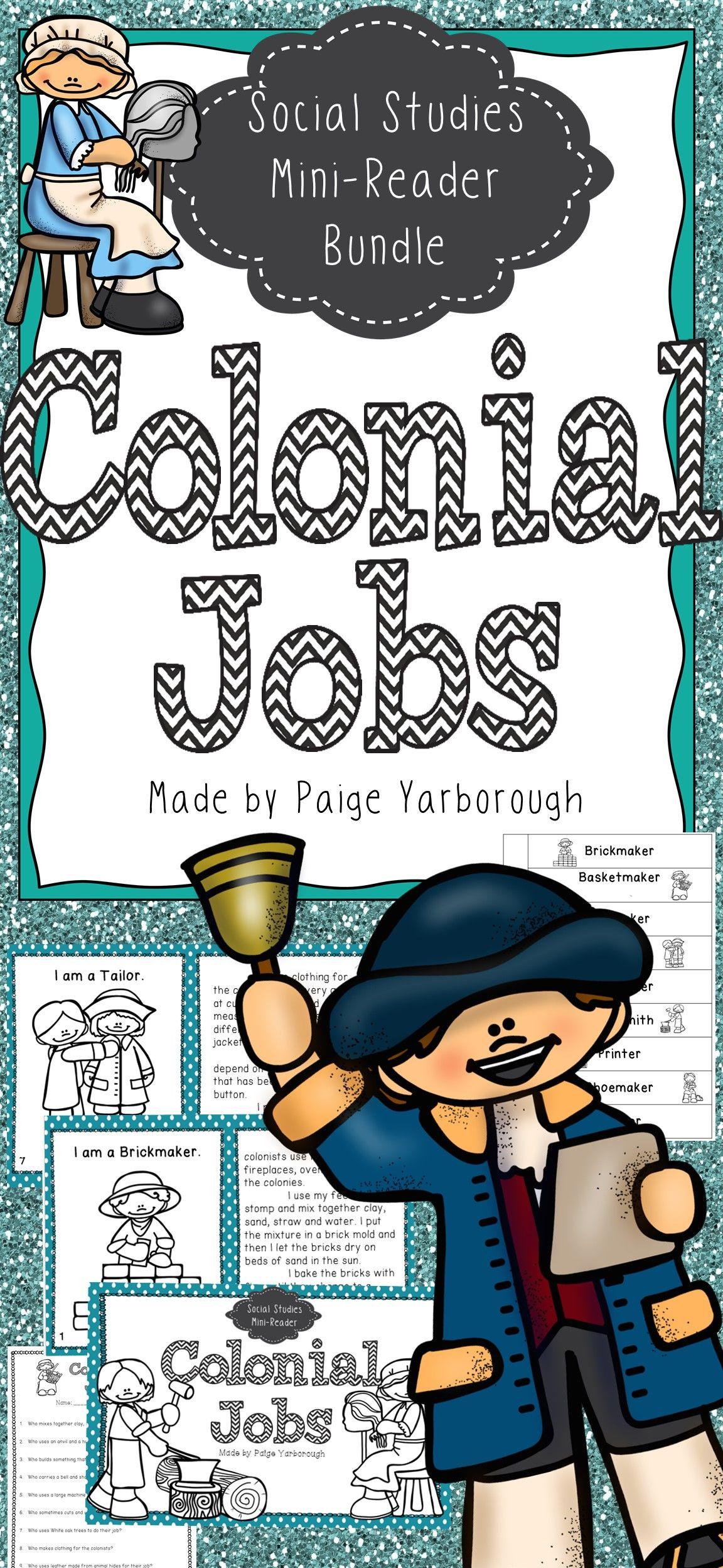 Colonial American Jobs Worksheet
