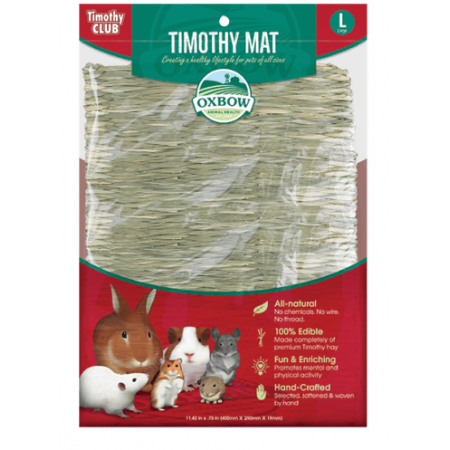 Oxbow Timothy Club Mat Large Walmart Com Small Pets Oxbow Pet Toys