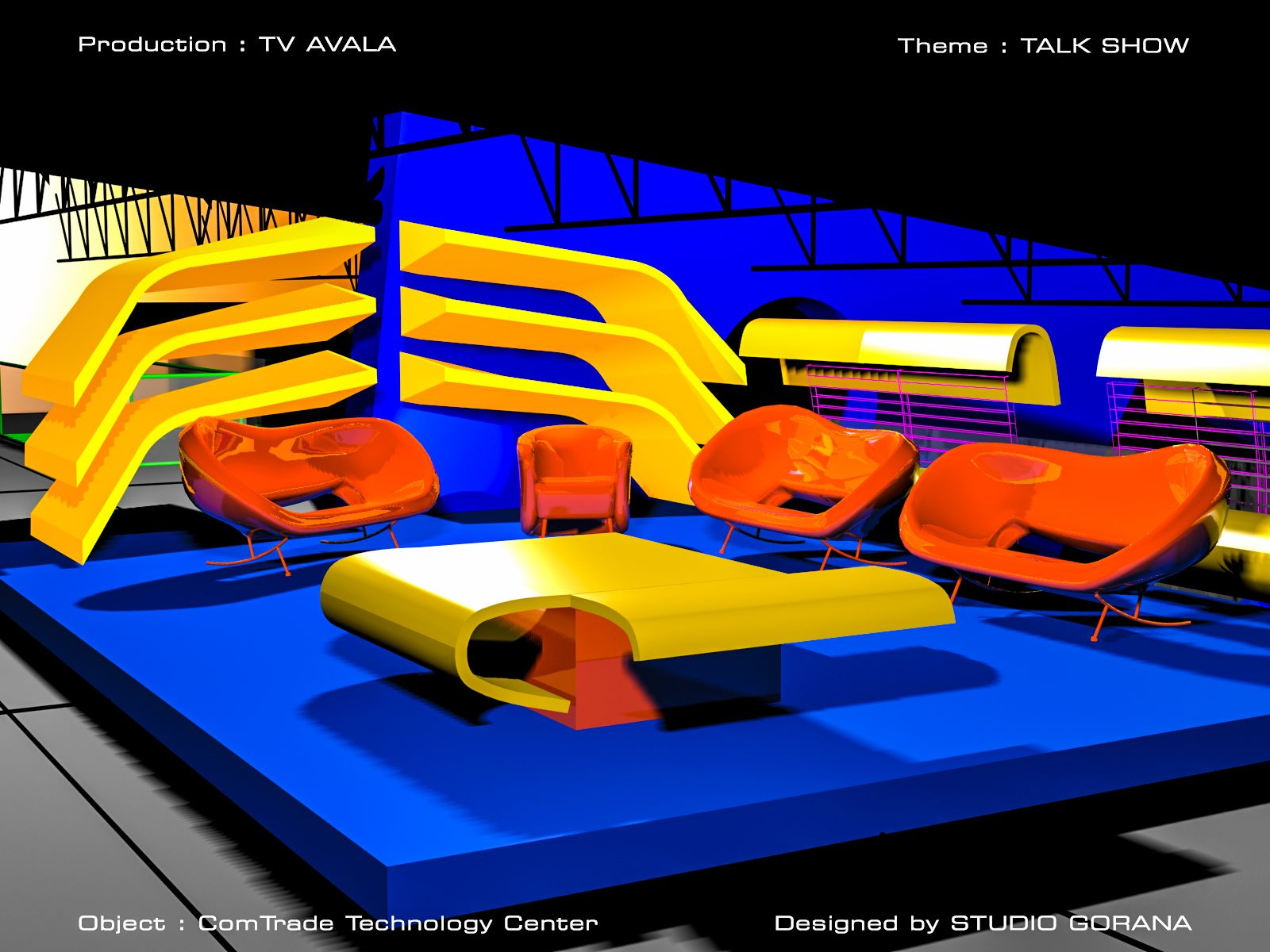 Broadcast set design for Talk show 02 세트 디자인, 스튜디오