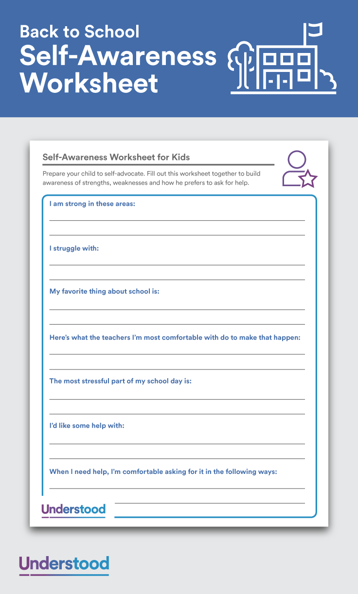 self awareness worksheet for kids head to first week self awareness means understanding your strengths and weaknesses and knowing what types of help