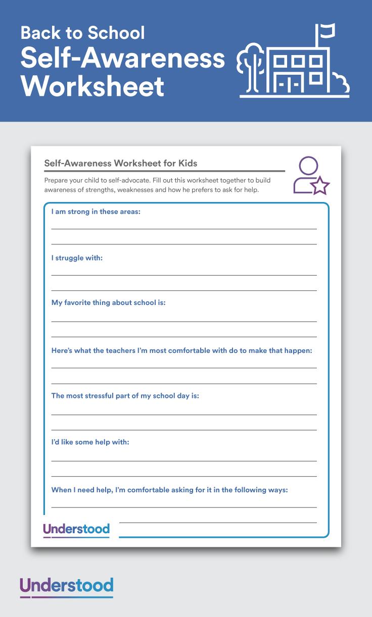 Download Self Awareness Worksheets For Kids