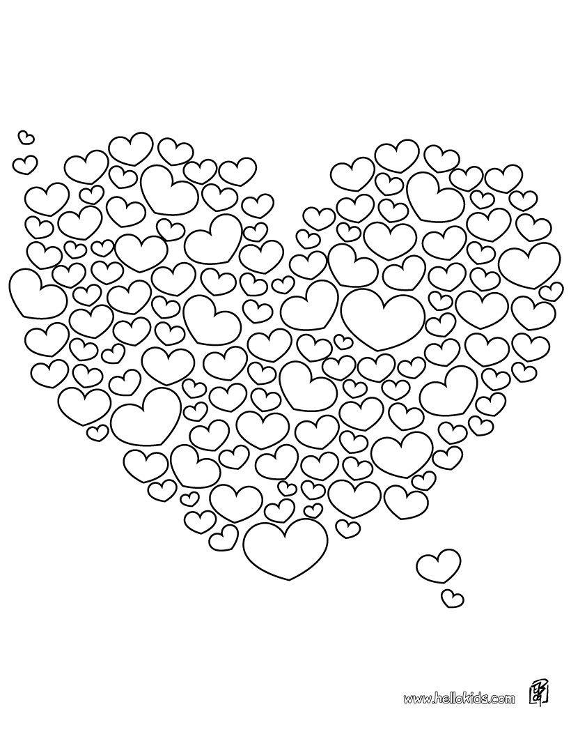 Valentinstag Herzen zum Ausmalen | ausmalbilder | Pinterest ...