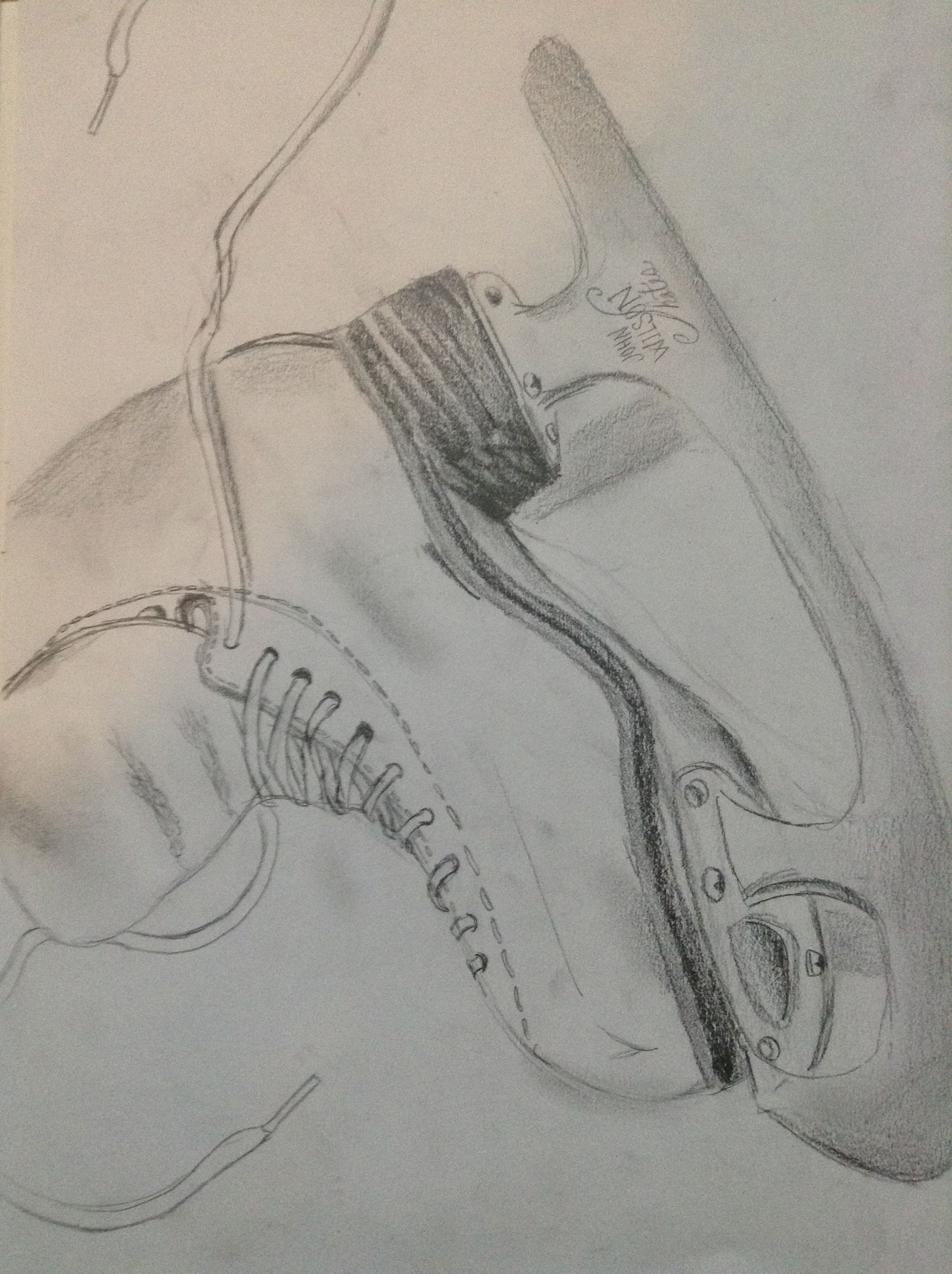 Pencil Ice Skate Drawing